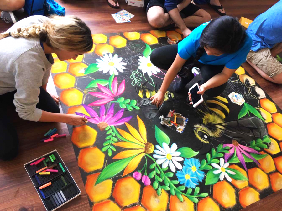 Chalk Block Contest creates beauty and bonds