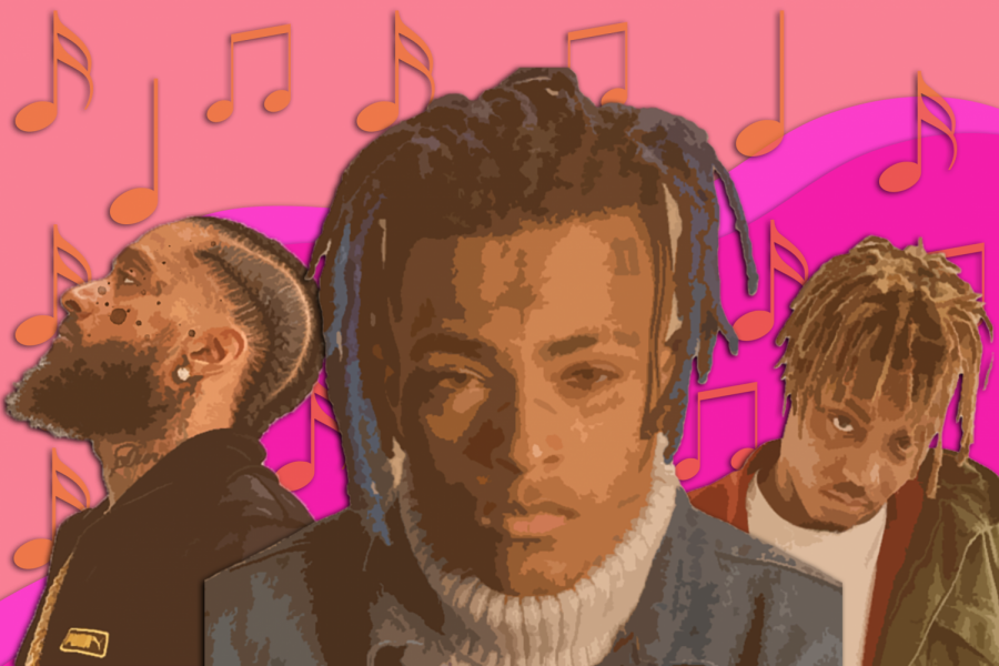 Mural of Young Artists: Juice WRLD, XXXTentacion, and Nipsey Hussle are among the artists that have passed away.