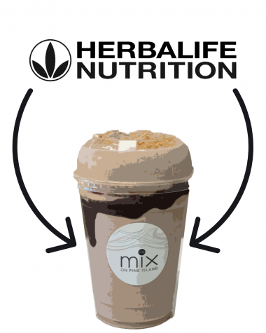 Teenagers believe there is a connection between a new cafe TheMix and HerbaLife.
